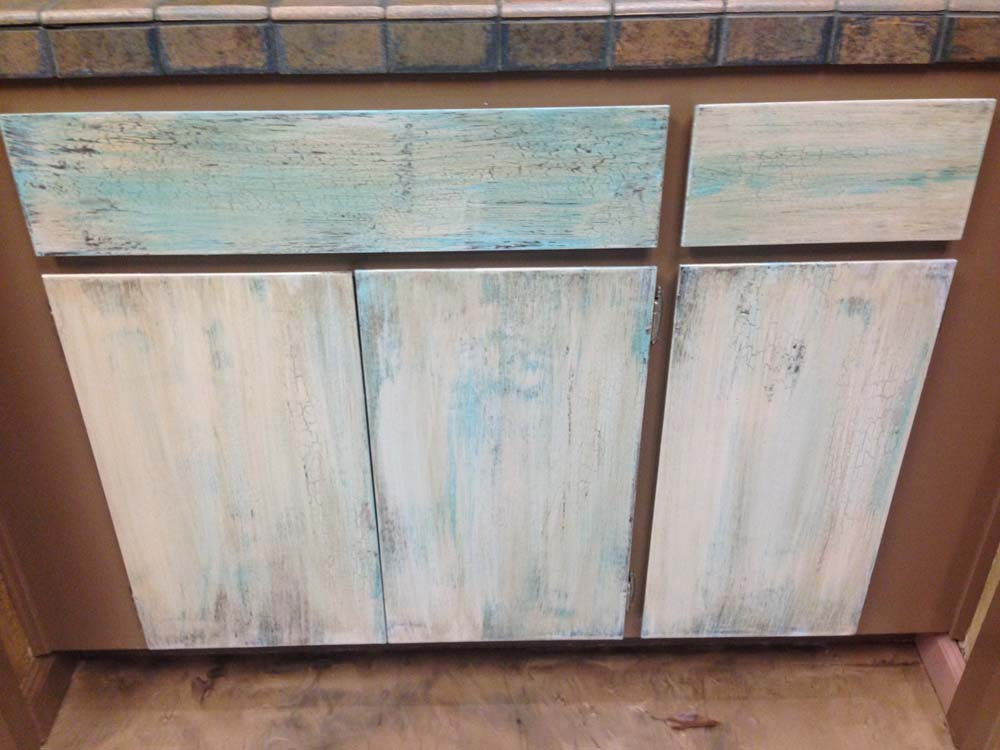 Lower Cabinet Refinishing