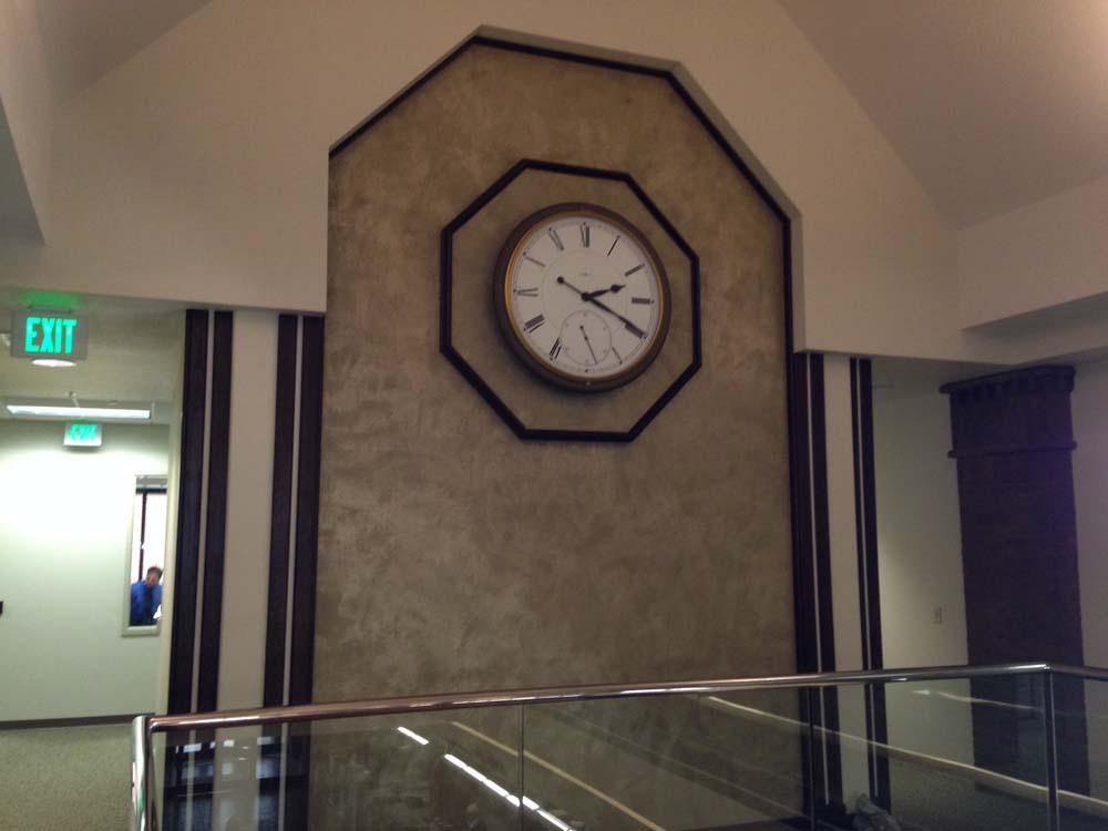 RBC Faux Finish Clock Wall