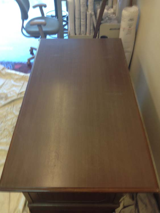Desk Refinishing Services Before (Can Do Same With Counter)
