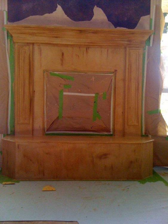 Fireplace Mantle Painting Services