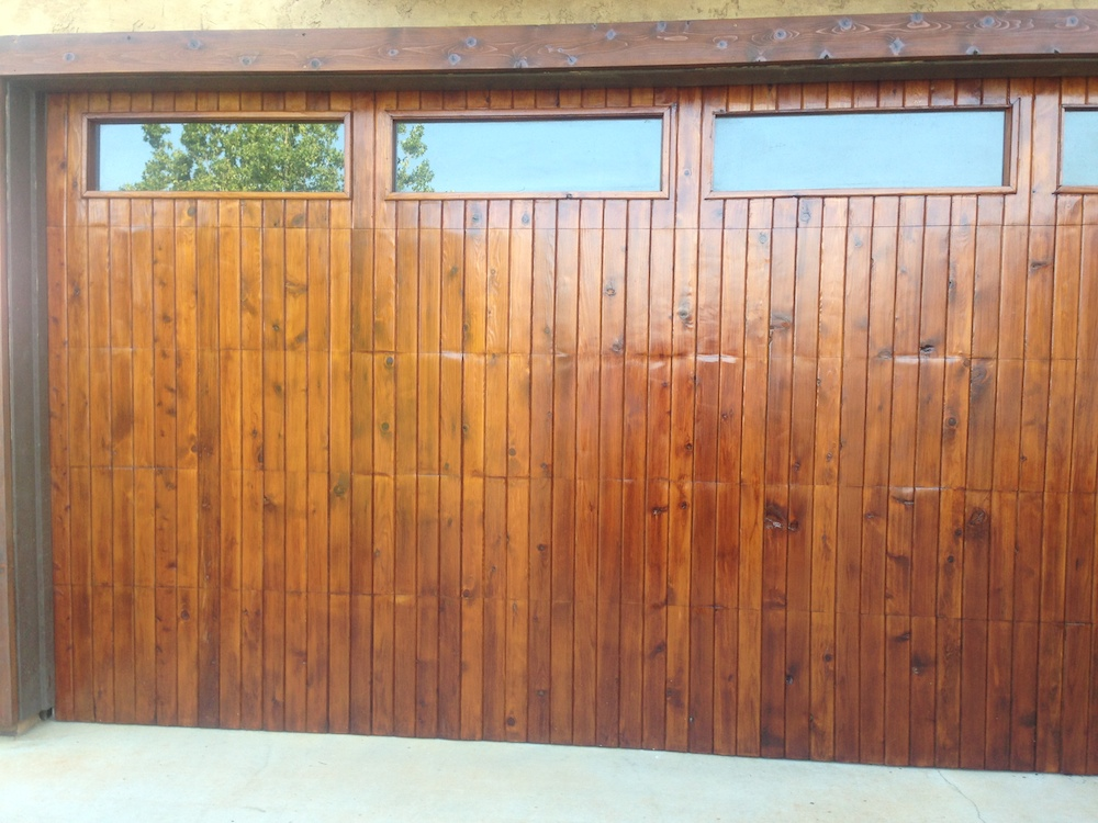 Natural Garaqe Door Finishing