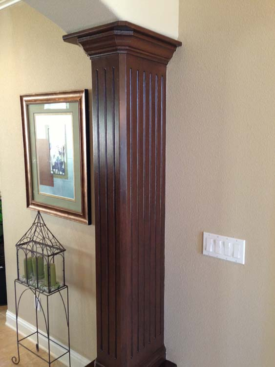 Residential Faux Columns Painting Services After
