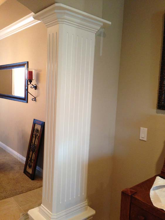 Residential Faux Columns Painting Services Before