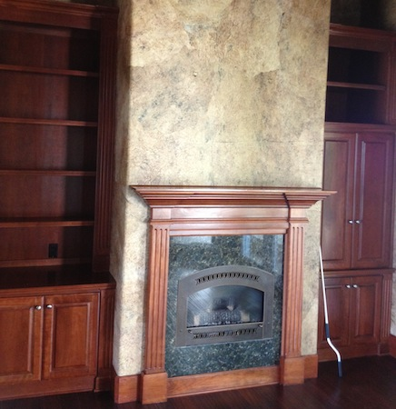 Fireplace Faux Finish