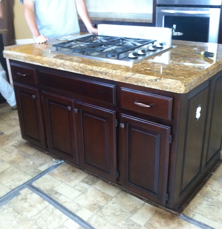Kitchen Island Cabinet Refinishing