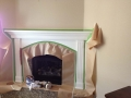 Fireplace Mantle Painting Services Before